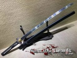 Samurai Katana Sword 1060 Carbon Steel With Black Saya