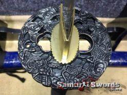 Samurai Katana Sword 9260 Spring Steel With Black And Gold saya