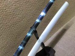 Blue Acid Dye Battle Ready Katana Sword T10 Clay Tempered Steel