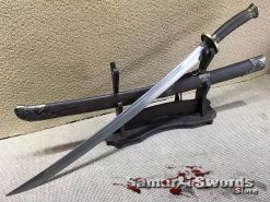 Chinese Dao 1095 Folded Steel with Rosewood Scabbard
