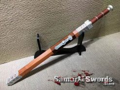Chinese Jian Sword 1060 Carbon Steel With Redwood Saya