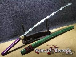 Katana-Sword-Damascus-Steel-Clay-Tempered-with-Hadori-Polish007