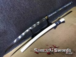 Nagamaki Sword 1060 Carbon Steel With White Saya