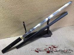 Shirasaya Sword T10 Clay Tempered Steel with High Quality Ebony Wood Saya