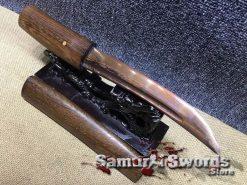 Shirasaya-Tanto-1095-folded-red-Steel-005