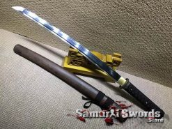 T10-Clay-Tempered-Steel-Wakizashi-Sword-007