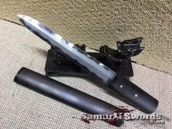 Tactical Tanto T10 Folded Clay Tempered Steel with High Quality Ebony Wood