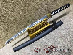 Wakizashi Sword 1060 Carbon Steel with Black Saya