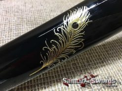 Black Saya with gold inscriptions