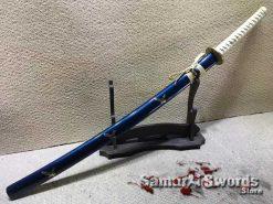 Full Tang Katana Sword 9260 Spring Steel with Gold Inscription Saya