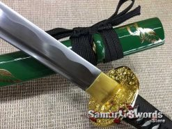 Green saya and brass fitting