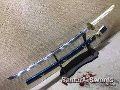 Katana Sword 9260 Spring Steel with Gold Inscription Saya