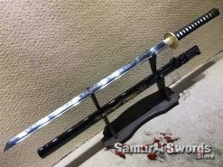 Ninjato T10 Clay Tempered Steel with Gold Dragon Inscription Saya
