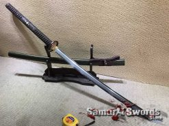 Samurai Nagamaki T10 Folded Clay Tempered Steel with Hadori Polish