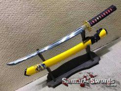Samurai Wakizashi 1060 Carbon Steel with Pirate Inscription Saya