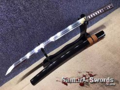 T10 Clay Tempered Steel Wakizashi