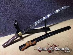 T10 Clay Tempered Steel Wakizashi sword