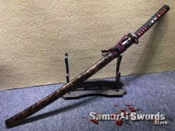 1060 Carbon Steel Katana with Engraved Saya