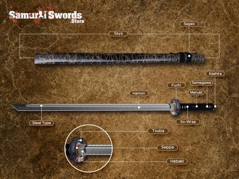 Custom Ninjato Sword