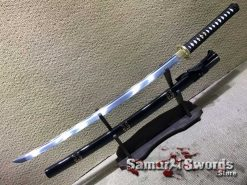 Japanese Katana 9260 Spring Steel with Gold Wolf Inscription Saya