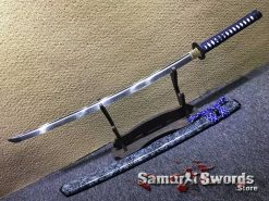 Japanese Katana T10 Clay Tempered Steel with Special Marble Pattern Saya