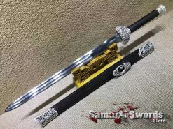 Jian Sword 9260 Spring Steel with Ebony Wood Scabbard