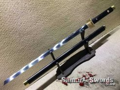 Ninjato T10 Clay Tempered Steel with Ebony Wood Saya