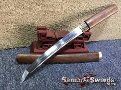 Tanto Blade T10 Clay Tempered Steel with Rosewood Saya