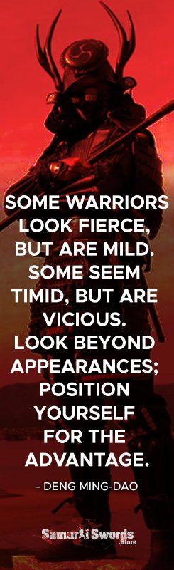 Some Warriors look fierce