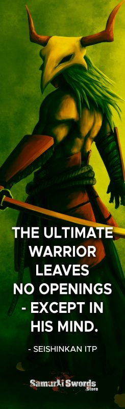 The Ultimate Warrior leaves no openings - Except in his mind. - Seishinkan ITP