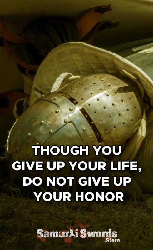 Though you give up your life