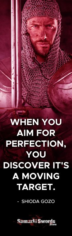 When you aim for perfection
