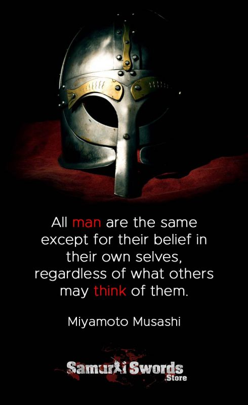 All man are the same except for their belief in their own selves