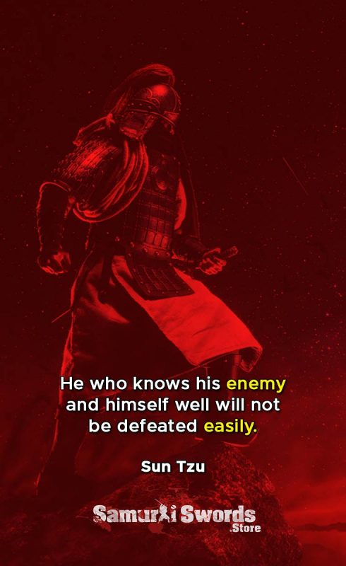 He who knows his enemy and himself well will not be defeated easily. - Sun Tzu