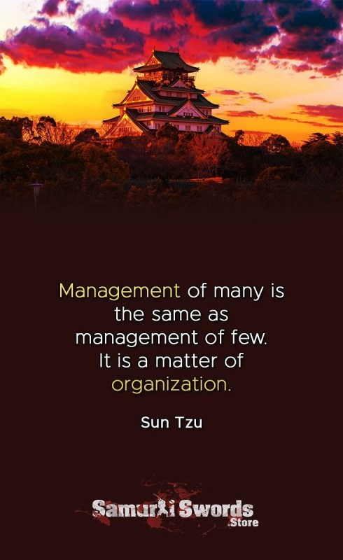 Management of many is the same as management of few. It is a matter of organization. - Sun Tzu