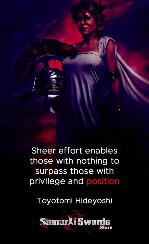 Sheer effort enables those with nothing to surpass those with privilege and position - Toyotomi Hideyoshi