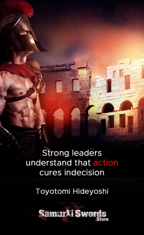 Strong leaders understand that action cures indecision - Toyotomi Hideyoshi