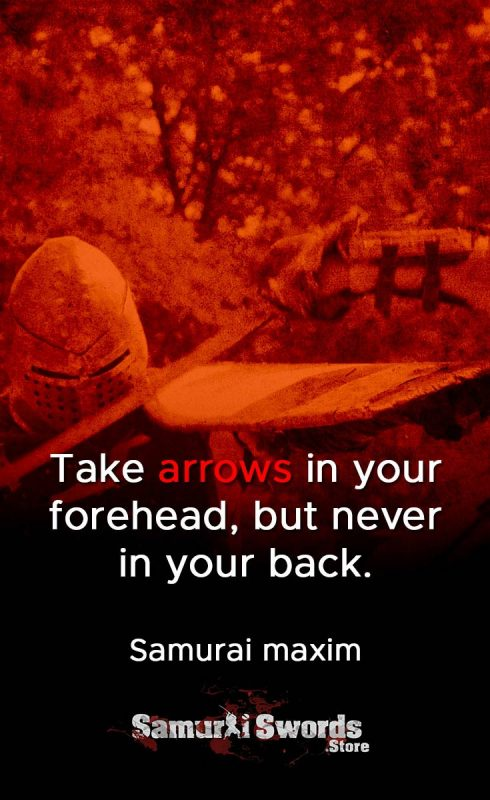 Take arrows in your forehead
