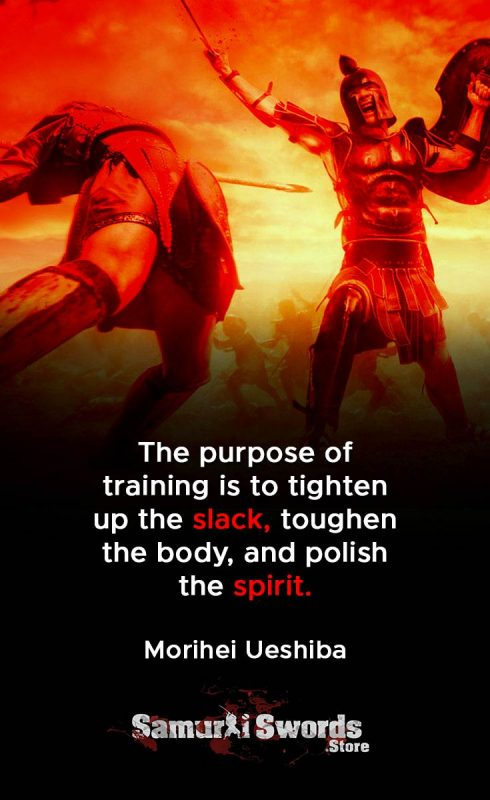 The purpose of training is to tighten up the slack