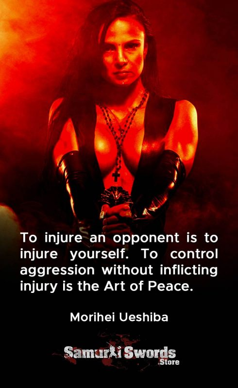 To injure an opponent is to injure yourself. To control aggression without inflicting injury is the Art of Peace. - Morihei Ueshiba