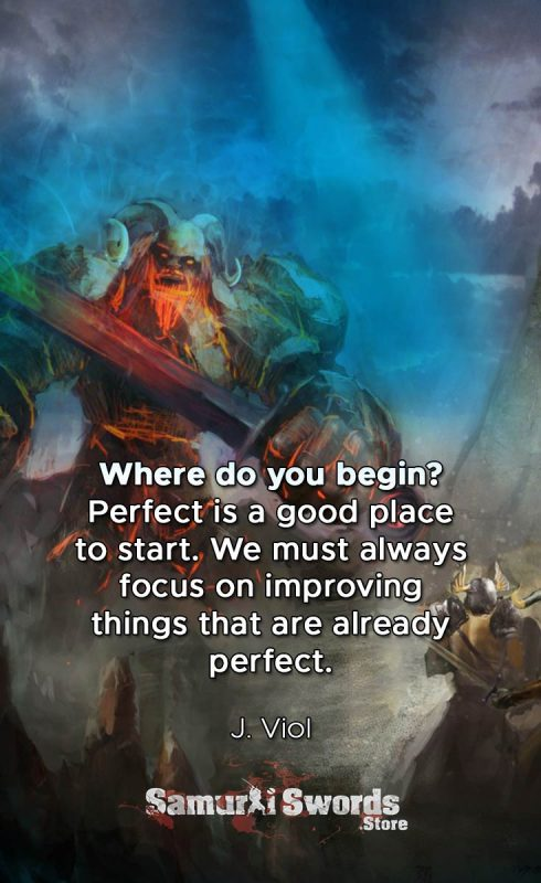 Where do you begin Perfect is a good place to start. We must always focus on improving things that are already perfect - J.Viol