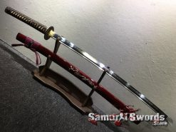 Battle Ready Katana Blade T10 Folded Clay Tempered Steel Seashell Bird Saya with Real Buffalo Horn (12)