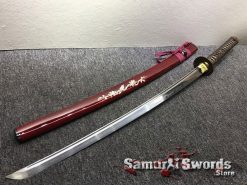 Battle Ready Katana Blade T10 Folded Clay Tempered Steel Seashell Bird Saya with Real Buffalo Horn (9)