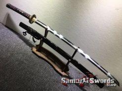 Battle Ready Katana Choji Hamon T10 Clay Tempered Steel with Hadori Polish (12)