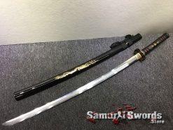 Battle Ready Katana Choji Hamon T10 Clay Tempered Steel with Hadori Polish (8)
