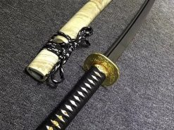 Battle Ready Katana Samurai Sword T10 Clay Tempered Steel with Black and Red Blade (11)