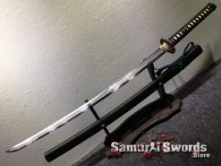 Battle Ready Katana Sword T10 Folded Clay Tempered Steel with Feather Hadori Polish (14)