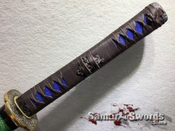 Battle Ready Katana T10 Clay Tempered Steel with Hadori Polish and Red acid Dye (1)