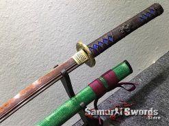 Battle Ready Katana T10 Clay Tempered Steel with Hadori Polish and Red acid Dye (14)