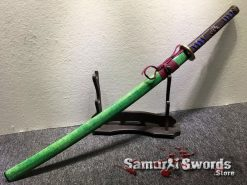 Battle Ready Katana T10 Clay Tempered Steel with Hadori Polish and Red acid Dye (15)